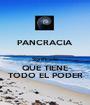 PANCRACIA  Significado QUE TIENE TODO EL PODER - Personalised Poster A1 size