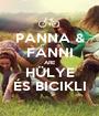 PANNA & FANNI ARE HÜLYE ÉS BICIKLI - Personalised Poster A1 size