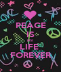 PEACE IS MY LIFE  FOREVER - Personalised Poster A1 size