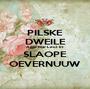 PILSKE DWEILE Agge Mar Leut Et SLAOPE OEVERNUUW - Personalised Poster A1 size