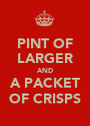 PINT OF LARGER AND A PACKET OF CRISPS - Personalised Poster A1 size