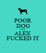 POOR DOG Sadly ALEX  FUCKED IT - Personalised Poster A1 size