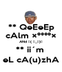 ** QeEeEp cAlm ׺°°º× ANd ┌( ಠ_ಠ)┘ ** ii´m  eL cA(u)zhA - Personalised Poster A1 size