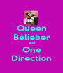 Queen Belieber and One Direction - Personalised Poster A1 size