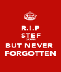 R.I.P STEF GONE BUT NEVER  FORGOTTEN - Personalised Poster A1 size