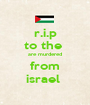 r.i.p to the  are murdered from israel  - Personalised Poster A1 size