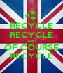RECYCLE RECYCLE AND OF COURSE RECYCLE - Personalised Poster A1 size