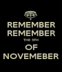 REMEMBER REMEMBER THE 5TH OF NOVEMEBER - Personalised Poster A1 size