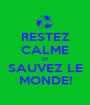 RESTEZ CALME ET SAUVEZ LE MONDE! - Personalised Poster A1 size