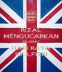 RIZAL MENGUCAPKAN SELAMAT HARI RAYA IDULFITRI - Personalised Poster A1 size
