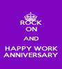 ROCK ON AND HAPPY WORK ANNIVERSARY - Personalised Poster A1 size