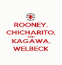 ROONEY, CHICHARITO, AND KAGAWA, WELBECK - Personalised Poster A1 size