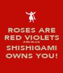ROSES ARE RED VIOLETS ARE BLUE SHISHIGAMI OWNS YOU! - Personalised Poster A1 size