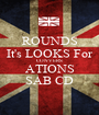 ROUNDS It's LOOKS For CONVERS ATIONS SAB CD - Personalised Poster A1 size