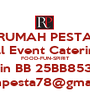 RUMAH PESTA All Event Catering FOOD-FUN-SPIRIT Pin BB 25BB8531 rumahpesta78@gmail.com - Personalised Poster A1 size