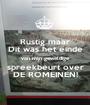 Rustig maar Dit was het einde van mijn geweldige spreekbeurt over DE ROMEINEN! - Personalised Poster A1 size