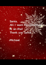 Santa, All I want for Christmas  Is an iPad  Thank you Santa  Michael  - Personalised Poster A1 size
