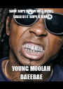 SAW SUPER MAN ON A BOWL CALLED IT SUPER BOWL YOUNG MOOLAH BAEEBAE - Personalised Poster A1 size