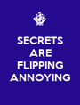 SECRETS ARE  FLIPPING ANNOYING - Personalised Poster A1 size