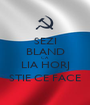 SEZI BLAND CA LIA HORJ STIE CE FACE - Personalised Poster A1 size