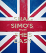 SHAG SIMO'S  MOM  SHE'S EASY - Personalised Poster A1 size