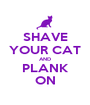 SHAVE YOUR CAT AND PLANK ON - Personalised Poster A1 size