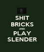 SHIT BRICKS AND PLAY SLENDER - Personalised Poster A1 size