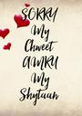 SORRY  My Chweet  AMRU My Shytaan  - Personalised Poster A1 size
