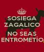 SOSIEGA ZAGALICO Y NO SEAS ENTROMETÍO - Personalised Poster A1 size