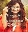Sou Lovatic Não Wikipédia OHÉLM - Personalised Poster A1 size