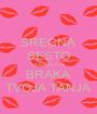 SRECNA SESTO GODISNJICA BRAKA TVOJA TANJA - Personalised Poster A1 size