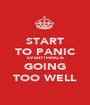 START TO PANIC EVERYTHING IS GOING TOO WELL - Personalised Poster A1 size