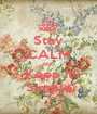 Stay CALM AND Keep it Simple - Personalised Poster A1 size