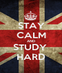 STAY CALM AND STUDY  HARD - Personalised Poster A1 size