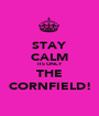 STAY CALM ITS ONLY THE CORNFIELD! - Personalised Poster A1 size
