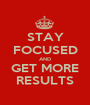 STAY FOCUSED AND GET MORE RESULTS - Personalised Poster A1 size