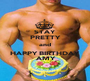 STAY PRETTY and HAPPY BIRTHDAY  ♥ AMY ♥ - Personalised Poster A1 size