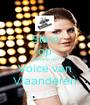 Stem op haar in de Voice van Vlaanderen - Personalised Poster A1 size