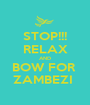 STOP!!! RELAX AND BOW FOR  ZAMBEZI  - Personalised Poster A1 size