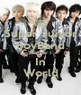 Super Junior BoyBand Number 1 In World - Personalised Poster A1 size