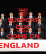 SUPPORT OUR NATION! COME ON  - Personalised Poster A1 size
