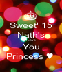 Sweet' 15 Nath's I Love You Princess ♥  - Personalised Poster A1 size