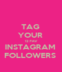 TAG  YOUR  12 FAV INSTAGRAM  FOLLOWERS  - Personalised Poster A1 size