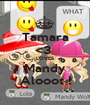 Tamara <3  LOVES Mandy Alooot ! - Personalised Poster A1 size