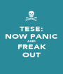 TESE: NOW PANIC AND FREAK OUT - Personalised Poster A1 size