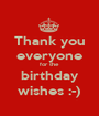 Thank you everyone for the birthday wishes :-) - Personalised Poster A1 size
