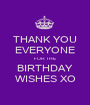 THANK YOU EVERYONE FOR THE BIRTHDAY WISHES XO - Personalised Poster A1 size