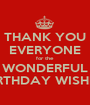 THANK YOU EVERYONE for the WONDERFUL BIRTHDAY WISHES! - Personalised Poster A1 size