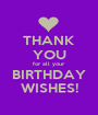 THANK YOU for all your BIRTHDAY WISHES! - Personalised Poster A1 size