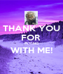 THANK YOU FOR  FLYING WITH ME!  - Personalised Poster A1 size